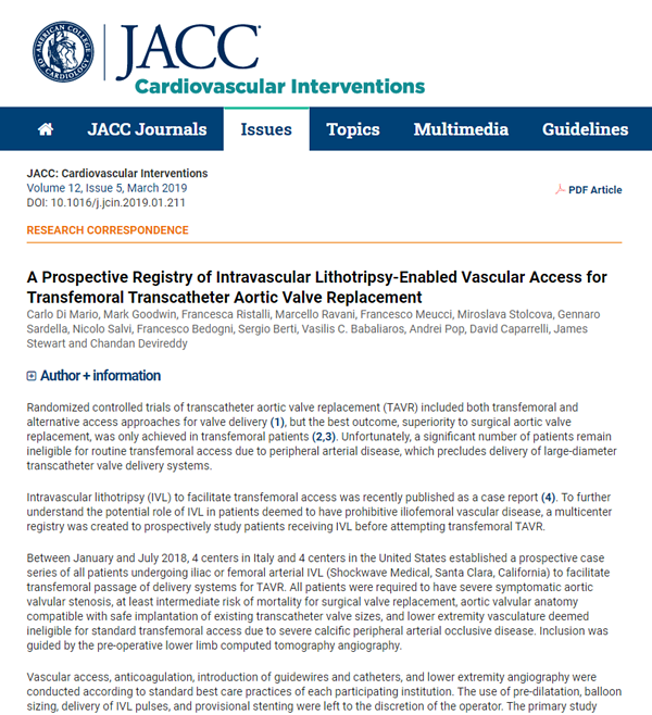 JACC CI TAVR publication Image for Catalyst